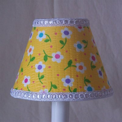 Happy Days Dots 4 H Fabric Empire Candelabra Shade ( Clip On ) in Yellow/Green