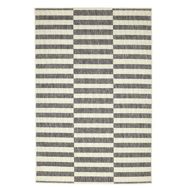 Welke Dual Face Gray/Black/Cream Indoor/Outdoor Area Rug by Ebern Designs