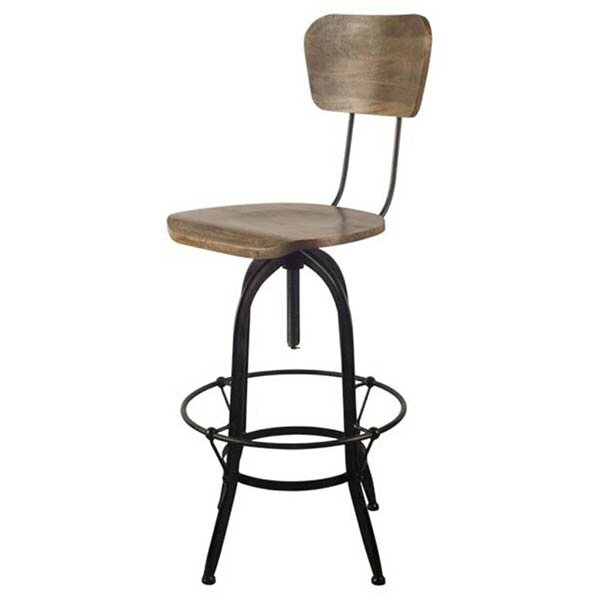 Uxbridge Adjustable Height Swivel Bar Stool by Union Rustic