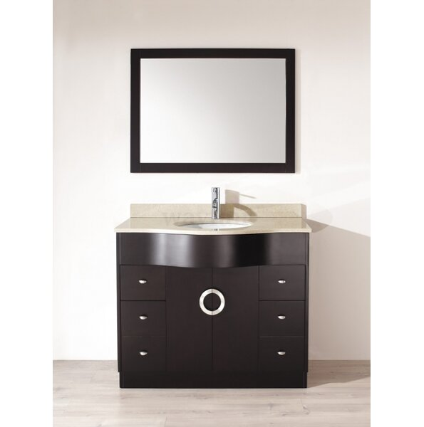 Zed 42 Single Bathroom Vanity Set with Mirror by Bauhaus Bath
