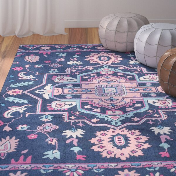Carlo Handmade Blue Area Rug by Bungalow Rose