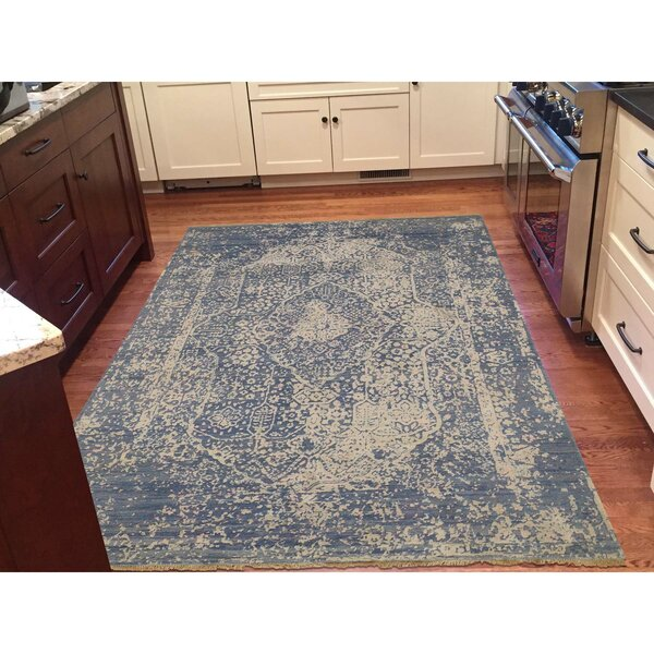 One-of-a-Kind Orobanche Broken Hand-Knotted Silk Area Rug by One Allium Way