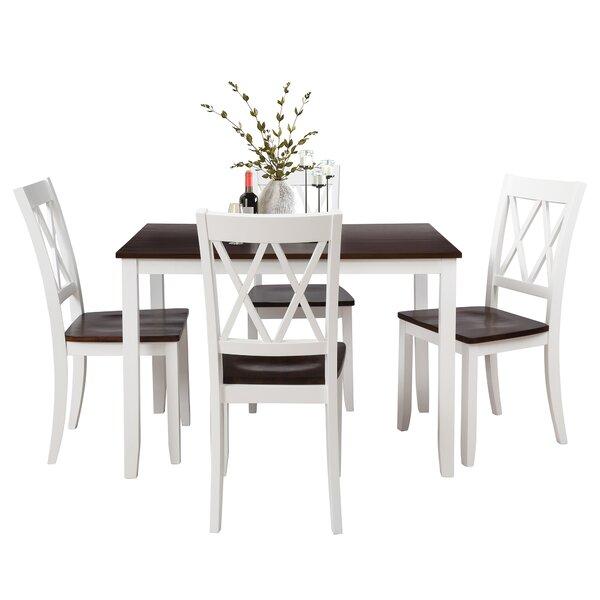Dazey 5 Piece Solid Wood Dining Set by Latitude Run Latitude Run
