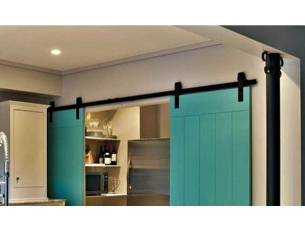 Double Classic Sliding Barn Door Hardware by Vancleef