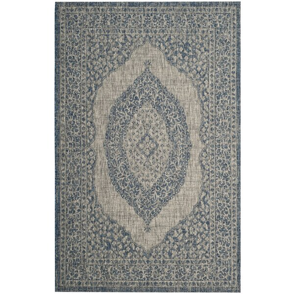 Myers Gray/Blue Area Rug by Mistana