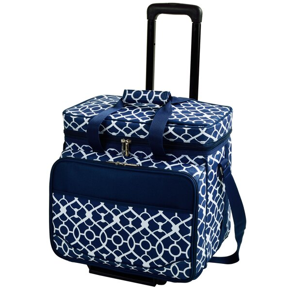 Trellis Rolling Picnic Cooler by Picnic at Ascot