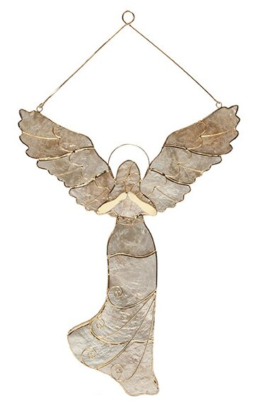 Christmas Guardian Angel Hanging Figurine by The Holiday Aisle