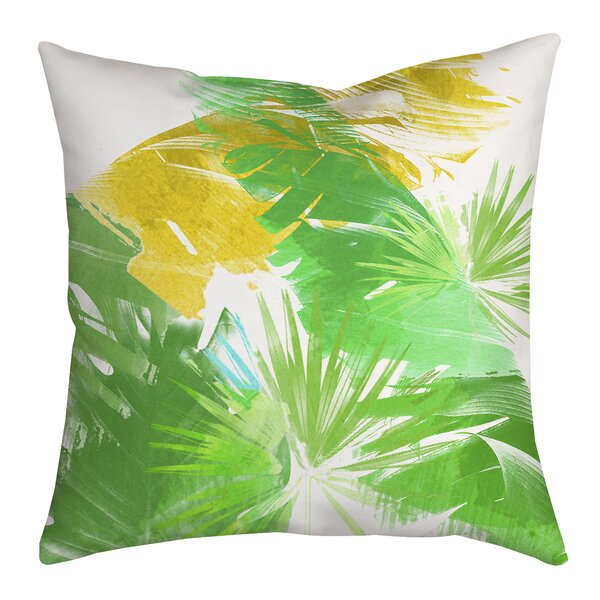 Trinidad Leaves and Palms Graphic Indoor/Outdoor Throw Pillow