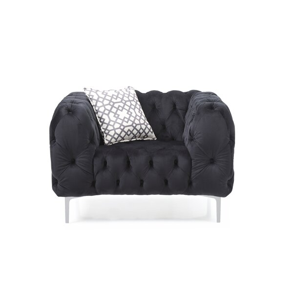 Verena Chesterfield Chair by Everly Quinn
