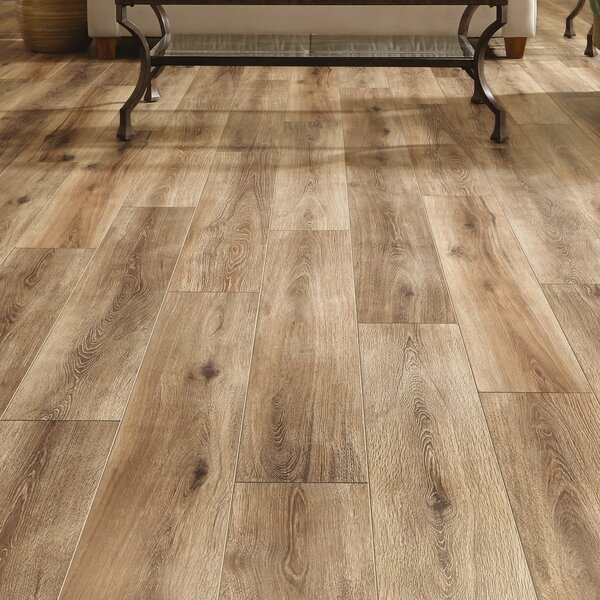 Restoration Wide Plank 8'' x 51'' x 12mm Laminate Flooring in Brushed Natural by Mannington