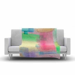 Compare & Buy Catherine Holcombe Watercolor Brushstrokes Modern Fleece Blanket ByEast Urban Home