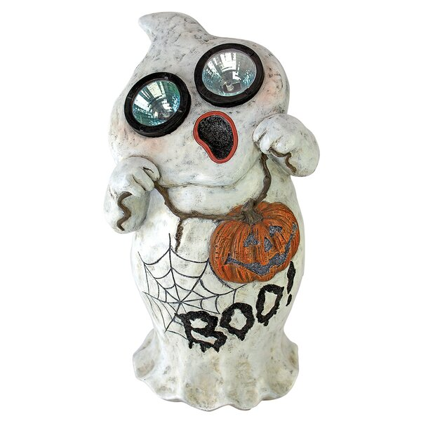 Ghostly Visions Solar Garden Ghost Statue by Design Toscano