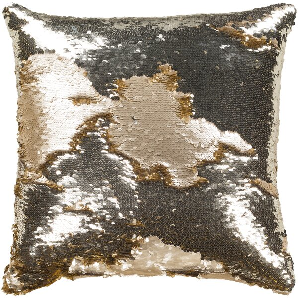 Marceline Textured Champagne Pillow Cover by House of Hampton