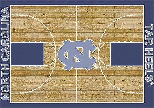NCAA College Home Court North Carolina Novelty Rug by My Team by Milliken