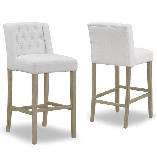 Genevra 30 Bar Stool (Set of 2) by One Allium Way