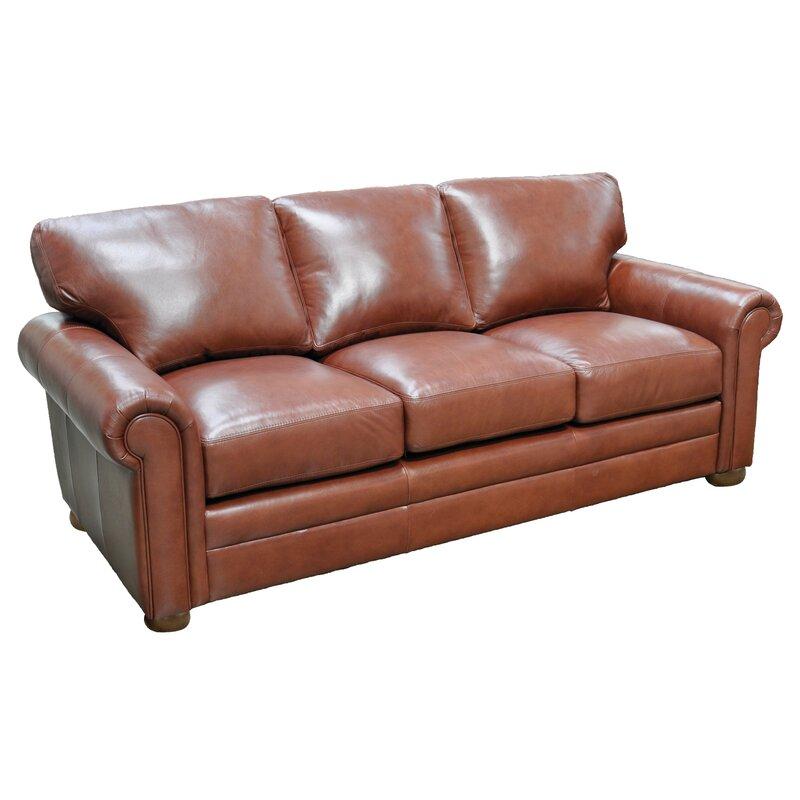 Omnia Leather Georgia Sleeper Sofa