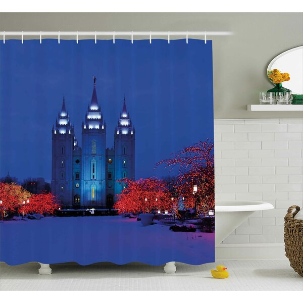 Snowy Shower Curtain by East Urban Home