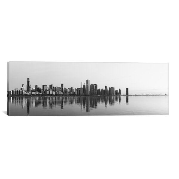 Chicago Panoramic Skyline Cityscape Photographic Print on Canvas by iCanvas