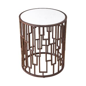 Shingle Barrel End Table by Global Views