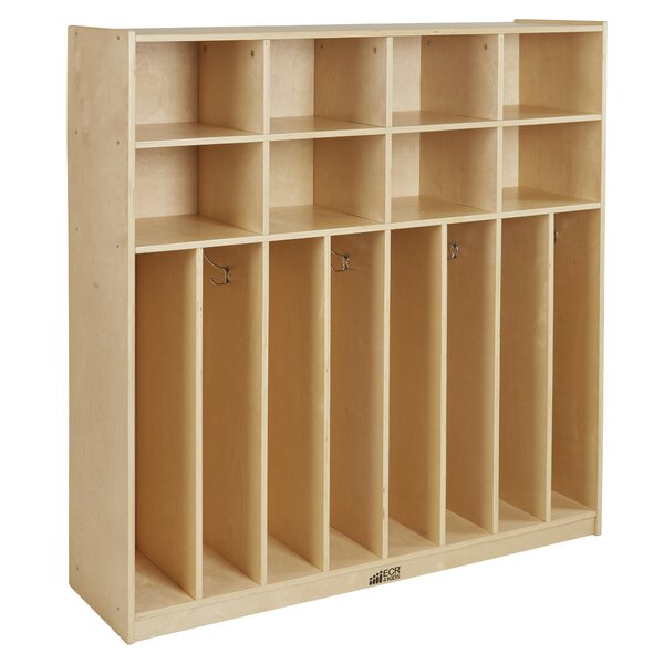 Birch Streamline 3 Tier 4 Wide Coat Locker by ECR4kids