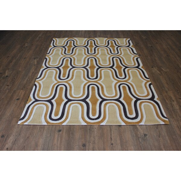 Transition Hand-Tufted Yellow Area Rug by Rug Factory Plus