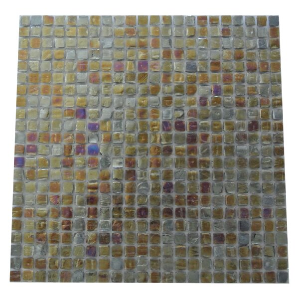 Ecologic 0.38 x 0.38 Glass Mosaic Tile in Glazed Blue/Gray by Abolos