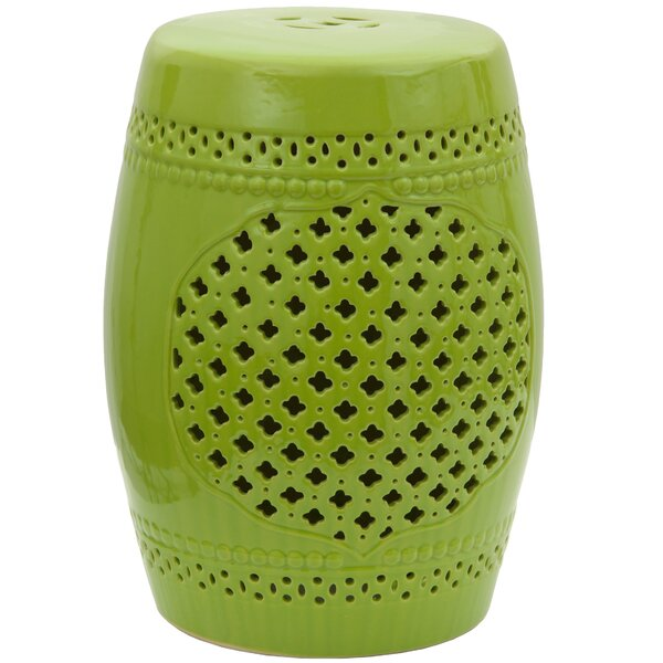 Lattice Porcelain Garden Stool by Oriental Furniture