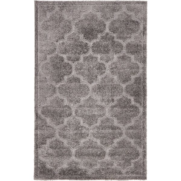 Moore Dark Gray Area Rug by Charlton Home