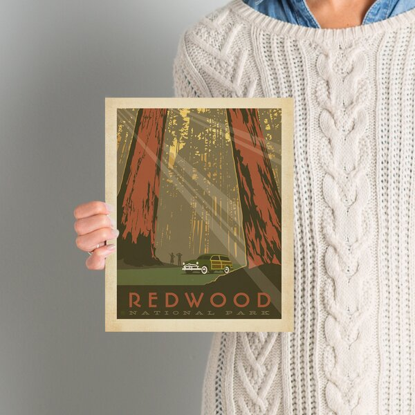 Redwood National Park Vintage Advertisement by East Urban Home
