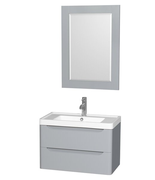 Murano 30 Single Gray Bathroom Vanity Set with Mirror by Wyndham Collection