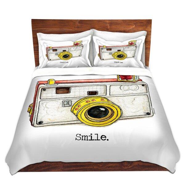 Silverhill Marley Ungaro Toys Camera Smile Microfiber Duvet Covers by Ebern Designs