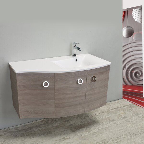 Brookline Medium Modern 42 Single Bathroom Vanity Set by Orren Ellis
