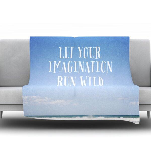 Let Your Imagination Run Wild by Susannah Tucker Fleece Throw Blanket by KESS InHouse