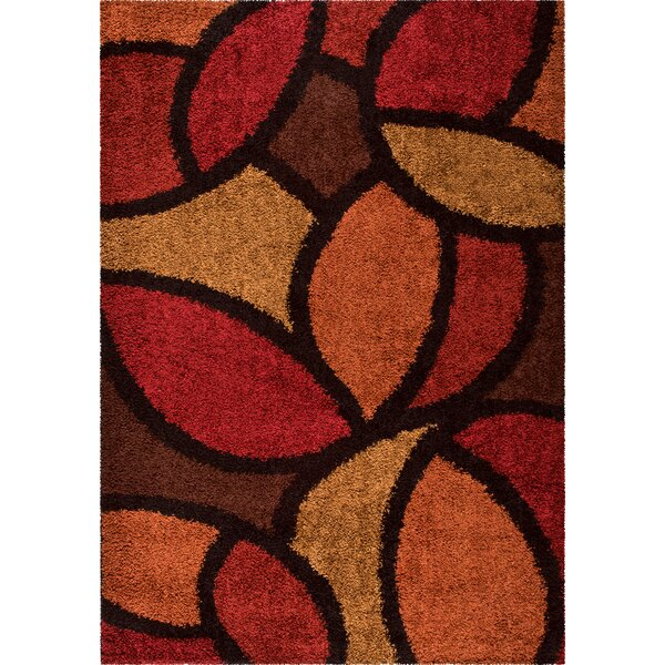 Burgess Red Area Rug by Threadbind