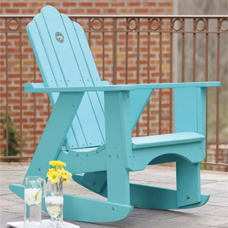 Original Wood Rocking Adirondack Chair by Uwharrie Chair