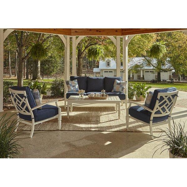 Mimosa 4 Piece Sunbrella Sofa Set With Cushions By Klaussner Furniture by Klaussner Furniture #2