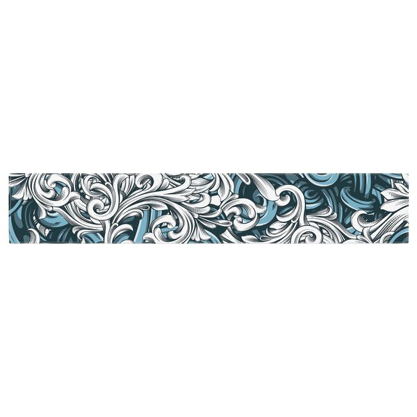 Nick Atkinson Celtic Floral II Abstract Table Runner by East Urban Home
