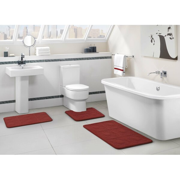 Rovario Multiple Geometric piece Bath Rug Set