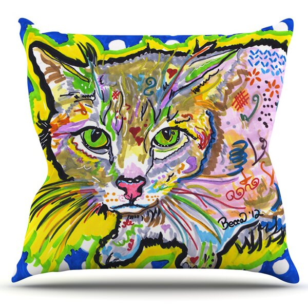 Abraham by Rebecca Fischer Outdoor Throw Pillow by East Urban Home