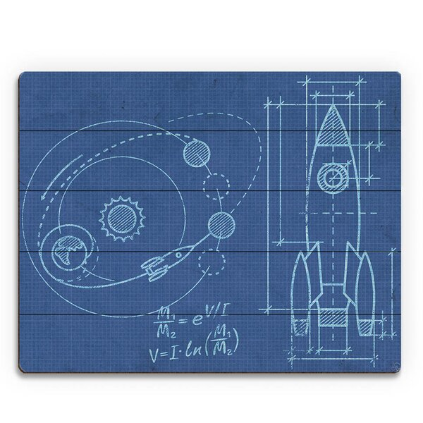Shuttle Blueprint Graphic Art on Plaque by Click Wall Art
