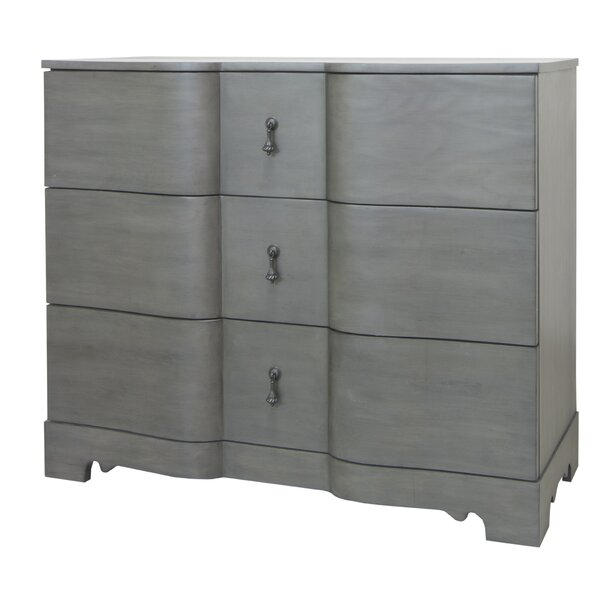 Hawthorne Estate Wash Shaped 3 Drawer Accent Chest by Crestview Collection Crestview Collection