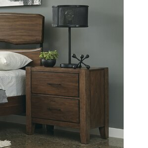 Russet 2 Drawer Nightstand by Union Rustic