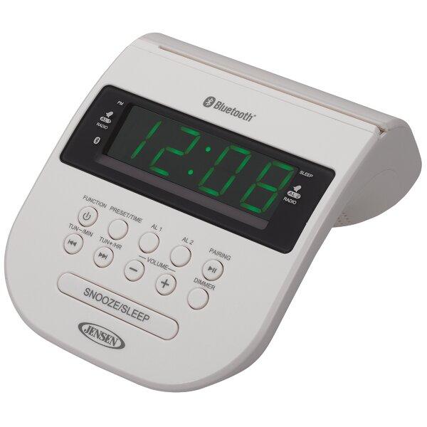 Bluetooth Clock Radio with Cellphone Holder by Jensen
