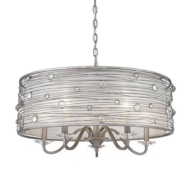 Mckeon 5 light drum chandelier reviews joss main mckeon 5 light drum chandelier aloadofball Image collections
