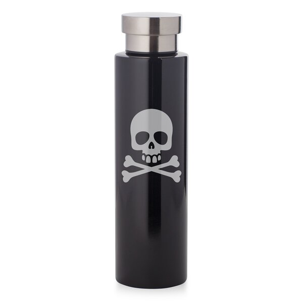 Grasser Skull and Crossbones 17 oz. Stainless Steel Water Bottle by Wrought Studio