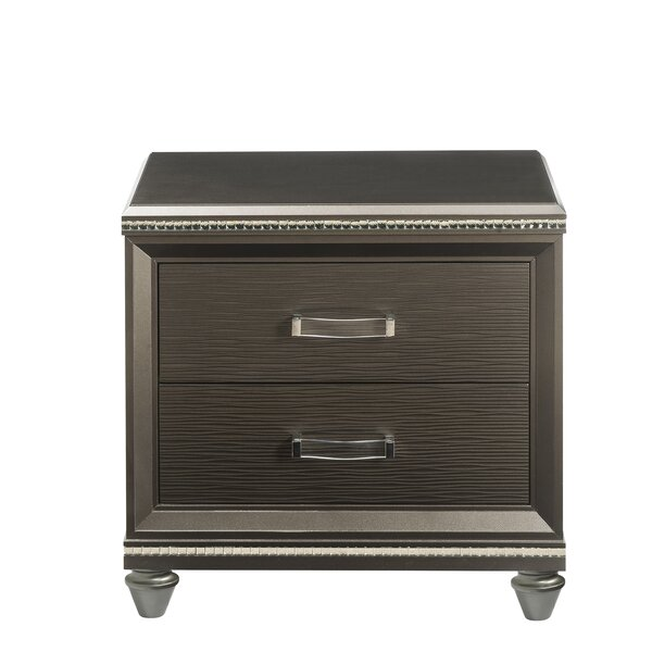 Spriggs 2 Drawer Nightstand by Rosdorf Park