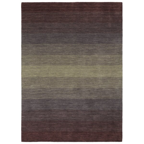 Fortune Hand Tufted Wool Purple Area Rug by 17 Stories