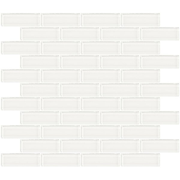 1 x 3 Glass Subway Tile in Super White by Susan Jablon
