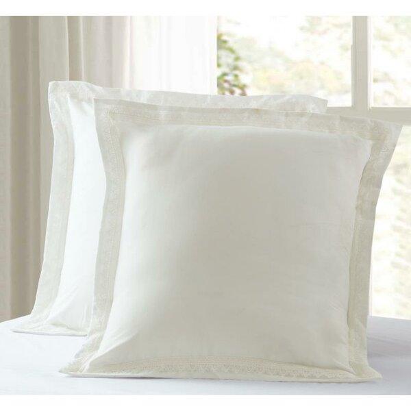 Cricklade Luxury Pillow Lace Hem Sham (Set of 2) by House of Hampton
