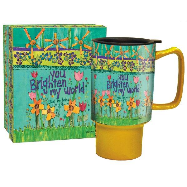 Edith Brighten My World Travel Mug by Zoomie Kids